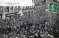 Limoges M.r.poincare A Limoges 1913 La Foule (Grosse Animation 87 Limoges