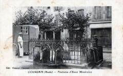 Coursan Fontaine D'Eaux Minerales  (cpa animée) - Coursan