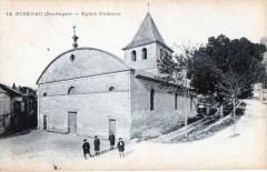 Riberac Eglise Romane (cpa animée - Ribérac