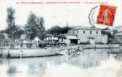 Beaumont De Lomagne Ve Prise De La Gimone  (cpa animée) - Beaumont-de-Lomagne