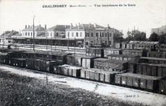 Chalindrey Vue Interieure De La Gare (Wagons En Gare - Chalindrey