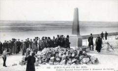 Berck Plage 19 Mai 1913 Madame Raymond Poincare Devant Le Monument Des In 62 Berck