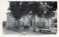 Capendu La Place La Mairie (cpa animée - Capendu