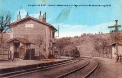 La Gare De Luc Desservant Le Village De St Etienne De Lugdares (Train En - Luc
