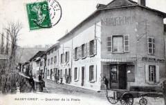 Saint Chef Quartier De La Poste (belle cpa animée - Saint-Chef