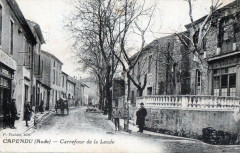 Capendu Carrefour De La Leude (cpa animée - Capendu