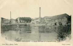 Vailly Sur Aisne L'Usine Electrique Et La Caoutchouterie  (cpa industrie - Vailly-sur-Aisne