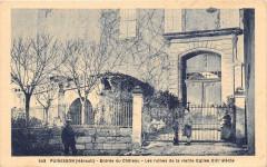 Puimisson Entree Du Chateau Les Ruines De La Vieille Eglise (animée - Puimisson