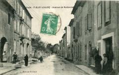 Fleury D'Aude Avenue De Narbonne (cpa animée - Fleury