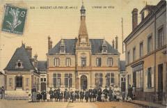 Nogent Le Roi L'Hotel De Ville (Animee cpa toilée émaillée - Nogent-le-Roi