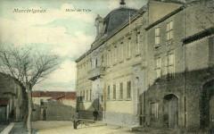 Marcorignan Hotel De Ville  (cpa glacée animation - Marcorignan