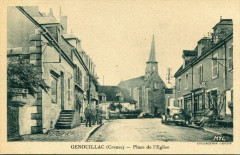 Genouillac Place De L'Eglise (animée - Genouillac