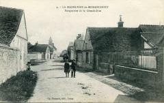 La Madeleine De Nonancourt Perspective De La Grande Rue (cpa animée - Nonancourt