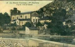 Saint Martory L'Eglise Cote Abside (cpa glacée) - Saint-Martory