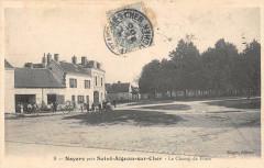 Noyers Pres Saint Aignan Le Champ De Foire (animée (Scan Recto Verso - Saint-Aignan