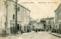 Montmeyran Place De La Liberte (cpa animée) - Montmeyran