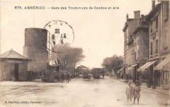 Amberieu Gare Des Tramways De Cerdon Et Ars (belle cpa - Cerdon