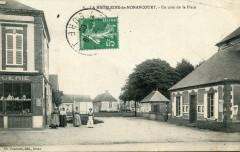 La Madeleine De Nonancourt Un Coin De La Place  (cpa animée Pas Courante - Nonancourt