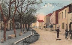 Puisserguier Boulevard De La Promenade (colorisée - Puisserguier