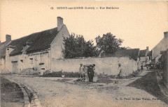 Bonny Sur Loire Rue Malitorne (rare cpa - Bonny-sur-Loire