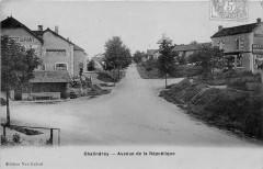 Chalindrey Avenue De La Republique (cpa émail pas courante état parfait - Chalindrey
