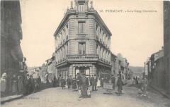 Firminy Les Cinq Chemins (belle cpa - Firminy