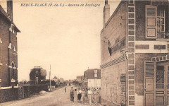 Berck Plage Avenue De Boulogne (cpa rare 62 Berck
