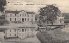 Champigneulles La Gare Le Pont Tournant Et Passerelle (dos non divisé) cp - Champigneulles
