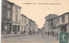 Cocumont Rue De La Poste Et Route De Meilhan - Cocumont