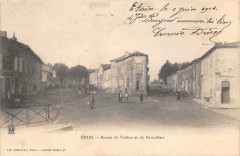 Etain Routes De Verdun Et De Dainvillers (dos non divisé) - Étain