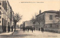 Saint Hippolyte Ecoles Et Mairie (belle cpa - Saint-Hippolyte