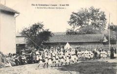 Langon Fete De La Gymnastique 24 Mai 1908 Societe Saint Maixent Les Jeune - Langon