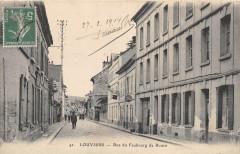 Louviers Rue Du Faubourg De Rouen (cliché pas courant - Louviers