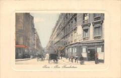 Paris IIIe Rue Rambuteau (cliché colorisé pas courant - Paris 3e