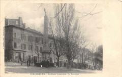 Forcalquier Boulevard Latourette La Fontaine (cliché rare - Forcalquier