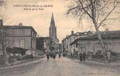 Saint Nicolas De La Grave Entree De La Ville - Saint-Nicolas-de-la-Grave