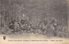 Colonie Paroissiale D'Ainay A Saint Laurent D'Agny Halte Sous Bois - Saint-Laurent-d'Agny