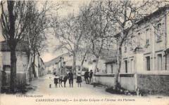 Cabrieres Les Ecoles Laiques Et Avenue Des Platanes - Cabrières