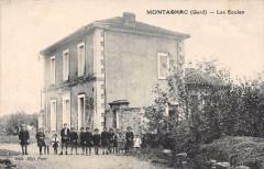 Montagnac Gard Les Ecoles (cpa rare - Montagnac