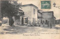 Montagnac Gard La Place (cpa rare - Montagnac