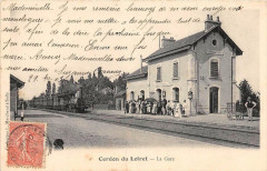 Cerdon Du Loiret La Gare (dos non divisé) Train En Gare (cliché rare - Cerdon