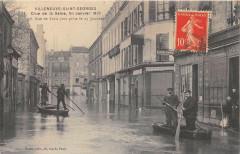 Villeneuve Saint Georges Crue De La Seine 38 Rue De Paris (cliché rare 94 Villeneuve-Saint-Georges
