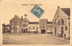 Thenezay Place Du Marche (cpa glacée - Thénezay