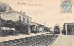 L'Isle Adam La Gare De Parmain L'Isle Adam ( Train En Gare (dos non divis - Parmain