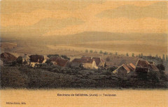 Environs De Sellieres Jura Toulouse (cpa toilée émaillée - Sellières