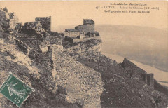Le Teil Ruines Du Chateau Le Pigeonnier Et La Vallee Du Rhone (cliché pas - Le Teil