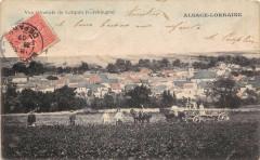 Vue Generale De Lorquin (Lorchingen) (dos non divisé) Scene D'Agriculture - Lorquin