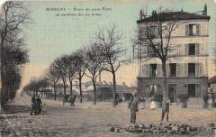 Bobigny Route Des Petits Ponts Au Carrefour Des Six Routes (cpa toilée ém - Bobigny