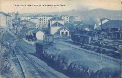 Dunieres Le Quartier De La Gare - Dunières