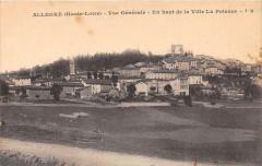 Allegre Vue Generale En Haut De La Ville La Potence - Allègre